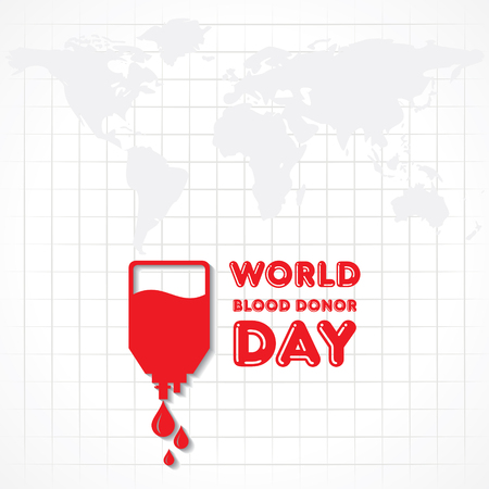 Creative World Blood Donor Day Greeting stock vector Vector