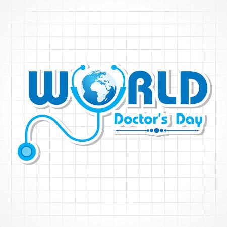 medico caricatura: Los médicos Creativos Día de felicitación stock vector