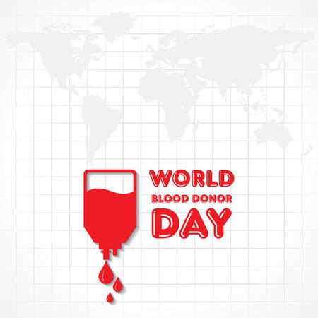 donor: Creativo Mundial del Donante de Sangre D�a de felicitaci�n stock vector