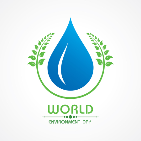 environmental awareness: Creative World Environment Day Greeting vector