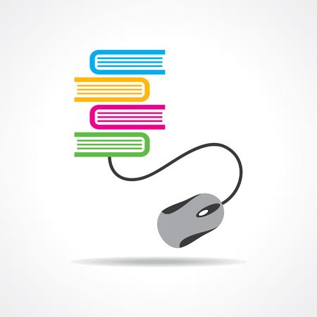 Computer education concept stock vector Illustration