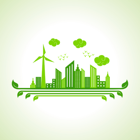 solarpower: Save nature concept -vector illustration