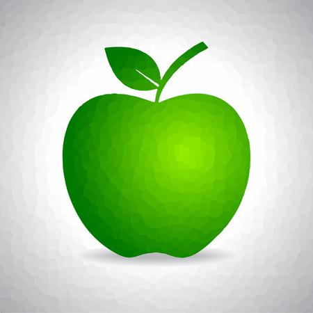apple border: Sketched green apple design stock vector Illustration
