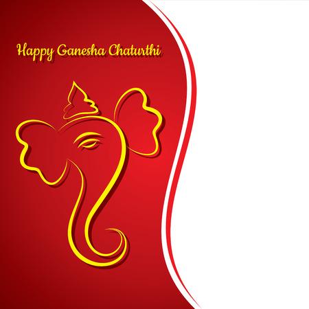 ganesh: creativa chaturthi ganesh fondo de la tarjeta de felicitaci�n del festival de vectores Vectores