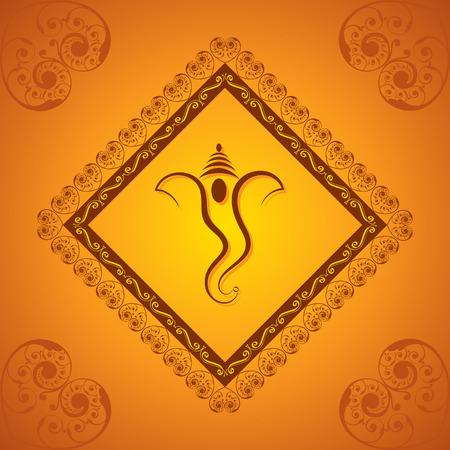 創造的なガネーシャ chaturthi 祭グリーティング カードの背景のベクトル