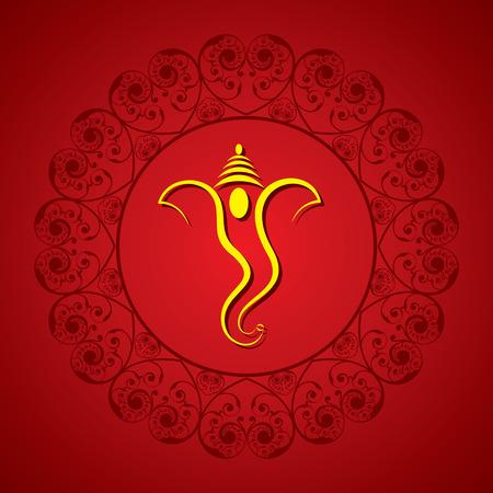 seigneur: cr�ative Ganesh Chaturthi festival de carte de voeux vecteur de fond