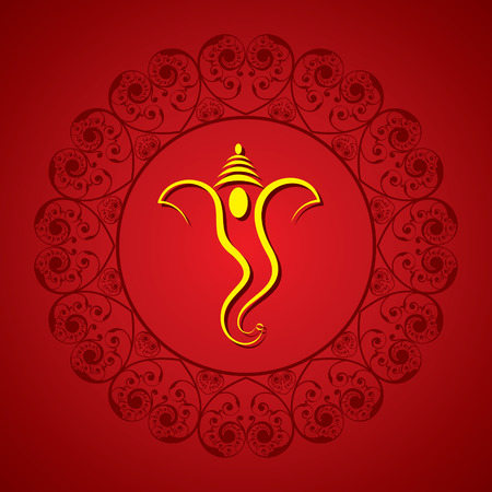 god ganesh: creative ganesh chaturthi festival greeting card background vector