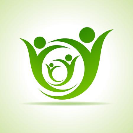Personas Eco celebración icono de diseño vectorial