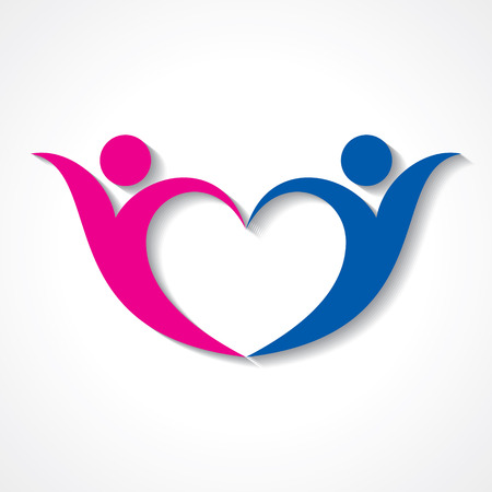 creative couple icon or happy valentine day design vector
