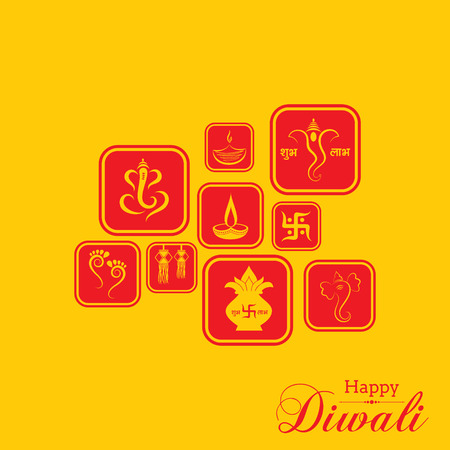 diwali celebration: Stylish design and text for Diwali celebration stock vector
