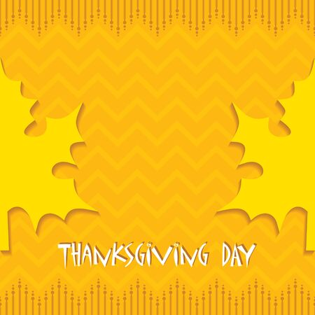 pocahontas: Creative Thanksgiving Day Background stock vector