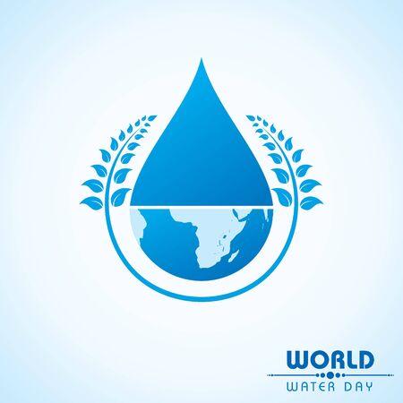 Creative World Water Day Greeting