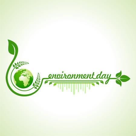 car leaf: world environment day greeting design Illustration