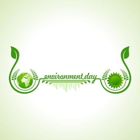 world design: world environment day greeting design Illustration