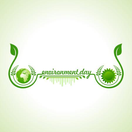 the natural world: world environment day greeting design Illustration