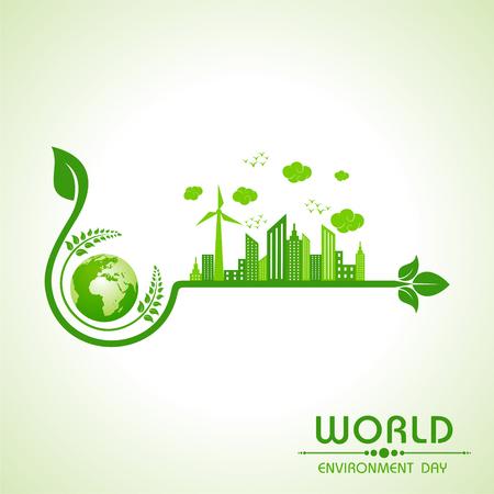 environnement mondial conception de voeux de jour