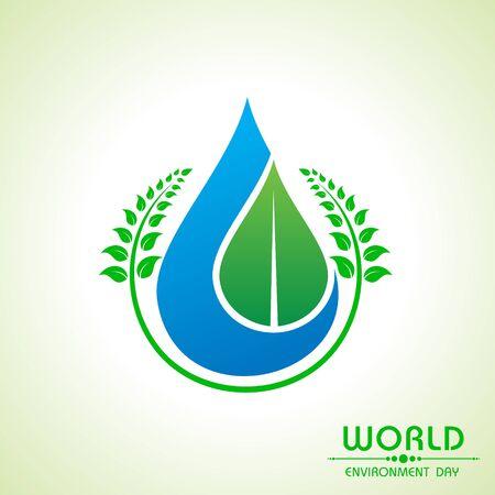 ahorrar agua: ambiente mundial del dise�o del d�a de felicitaci�n stock vector Vectores