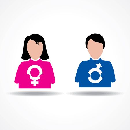 male female: Male Female icon having their symbol stock vector