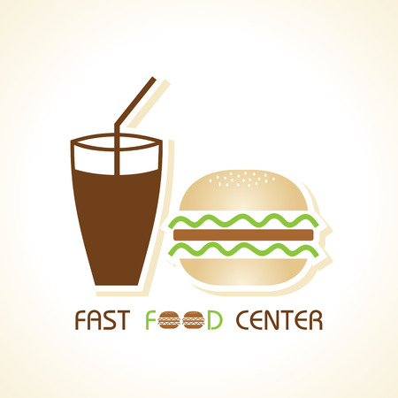 veggie: Fast food center stock vector