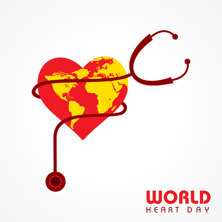 Creative World Heart Day Greeting stock vector