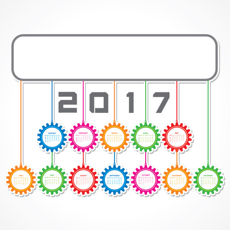 calender: Vector Illustration of Creative New Year calender for 2017 Illustration