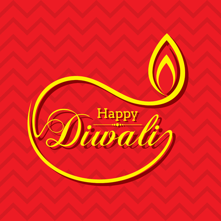 festive occasions: Stylish design and text for Diwali celebration stock vector