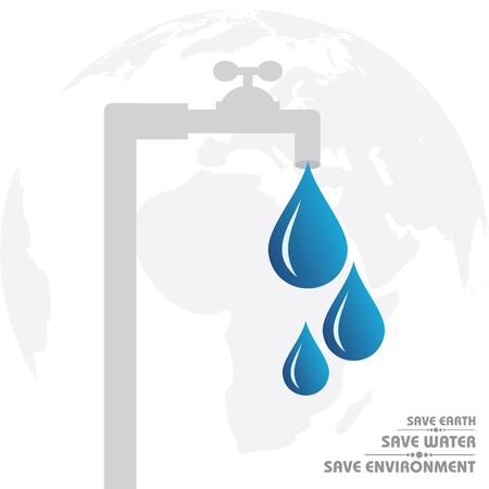 environmental conversation: World Water Day Greeting Stock Vector