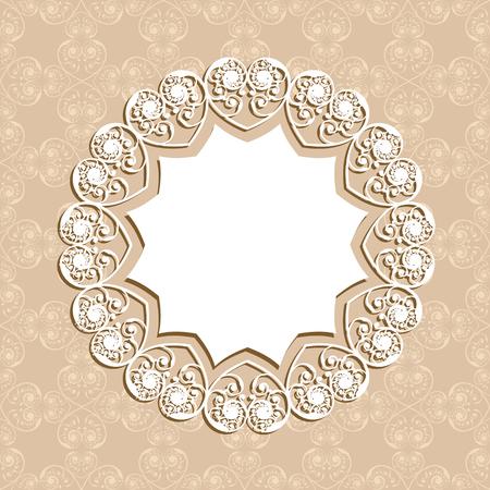 border vintage: Wedding Invitation Card design stock vector