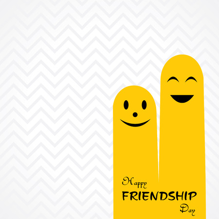 Happy Friendship Day Greeting stock vector