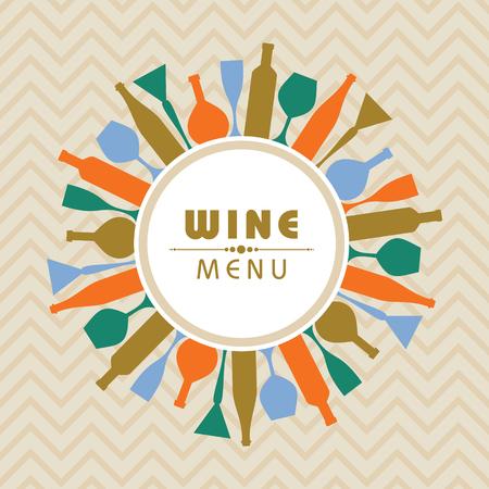 Illustratie voor wijnwinkelmenu Stockfoto - 80618722
