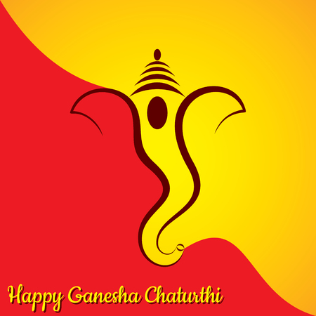 Illustration of Ganesha utsav greeting card