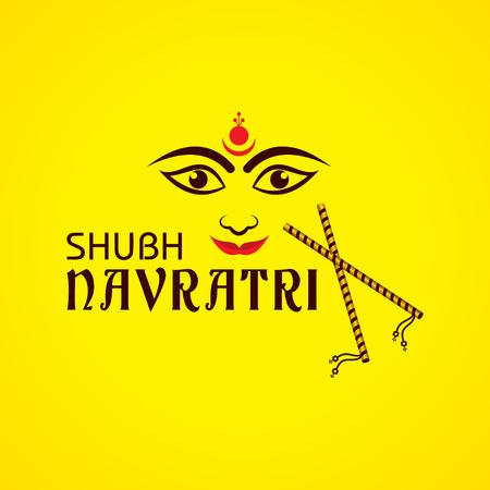Illustration of Navratri utsav greeting card