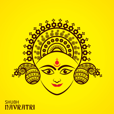 Illustration of Navratri utsav greeting card Stock Vector - 84431569