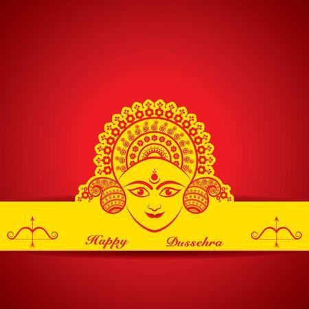 dashamukha: dussehra festival greeting or poster design stock vector Illustration