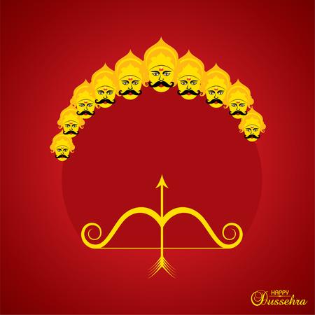 dussehra festival greeting or poster design stock vector Ilustrace