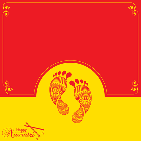 Illustration of Navratri utsav greeting card