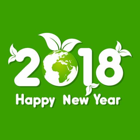 calendario octubre: Ilustración del saludo 2018 para la celebración del año nuevo