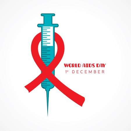 Illustration of world AIDS day.
