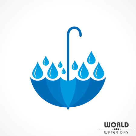 Save Nature Concept - World Water Day Stock Vector