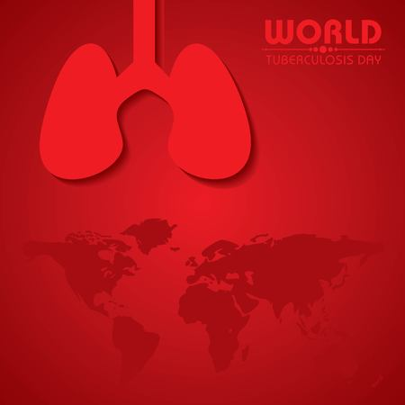World Tuberculosis Day Vector Illustration. Suitable for greeting card, poster and banner.