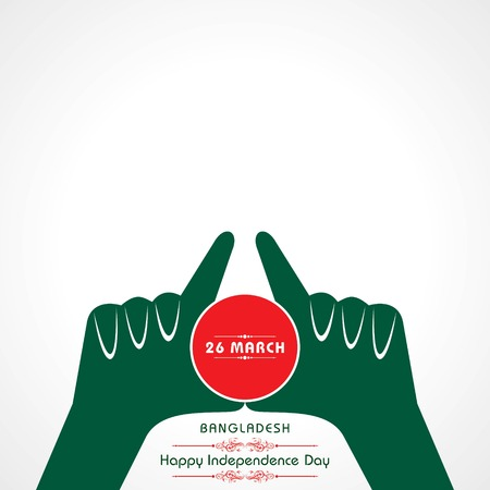 Vector illustration of Independence day concept with Bangladesh national flag pattern