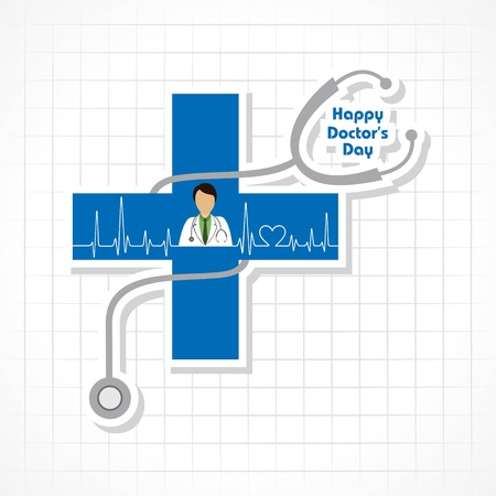 A Vector illustration of National Doctors Day stock image and symbols Illustration