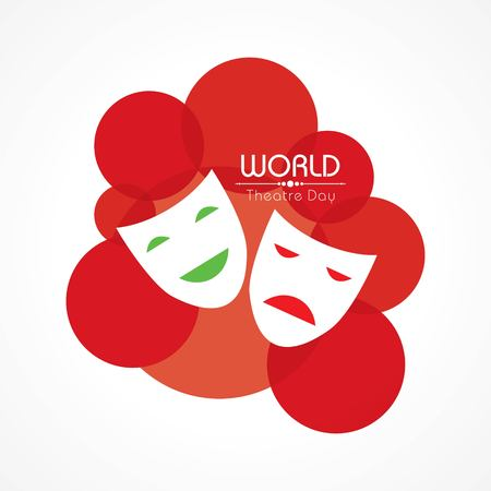 vector template for World Theatre Day, creative design illustration, 27th March.