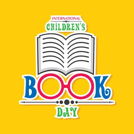 Vector illustration of International Children's book day poster celebrated on 2nd april  イラスト・ベクター素材