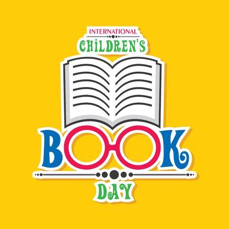 Vector illustration of International Children's book day poster celebrated on 2nd april Illustration