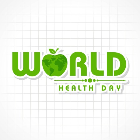 Vector illustration of a background for World Health Day Greeting