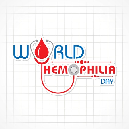 World hemophilia day vector illustration, suitable for greeting card, poster and banner.