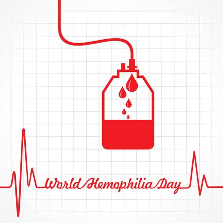 World Hemophilia Day Vector Illustration. Suitable for greeting card, poster and banner Illustration