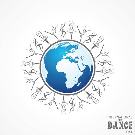 Vector Illustration of International Dance Day, Design for flyers, magazines and commercial banners.