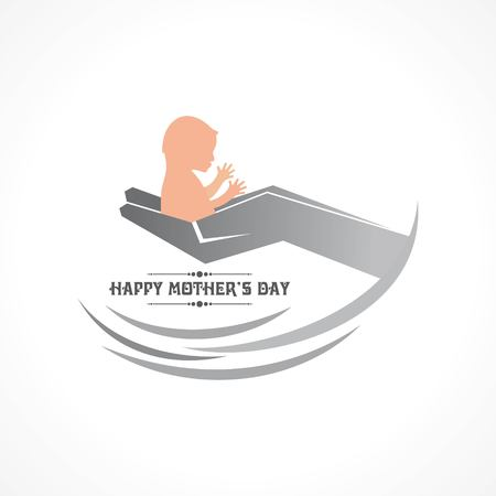 Vector illustration of Happy Mother's Day greeting card. Illustration